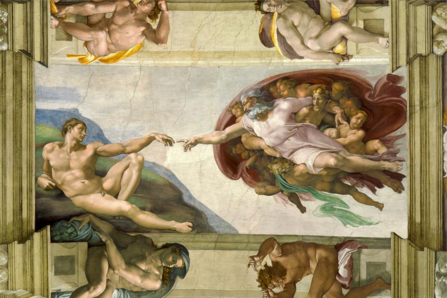 Michelangelo Buonarroti | La creazione di Adamo | Cappella Sistina